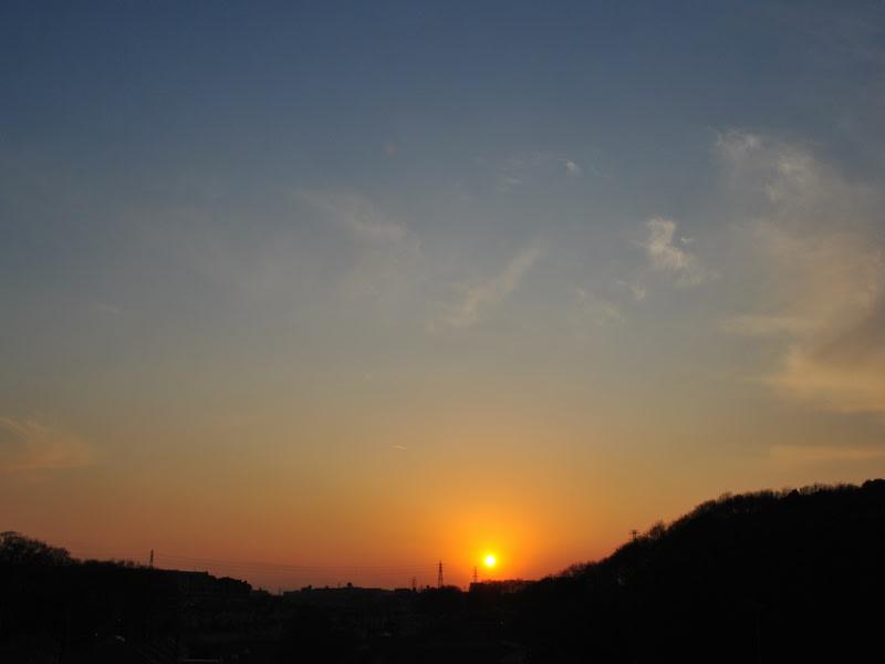 01月30日の夕日
