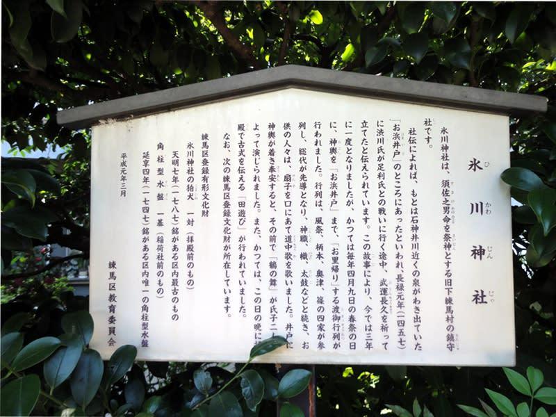 06月29日 氷川神社看板
