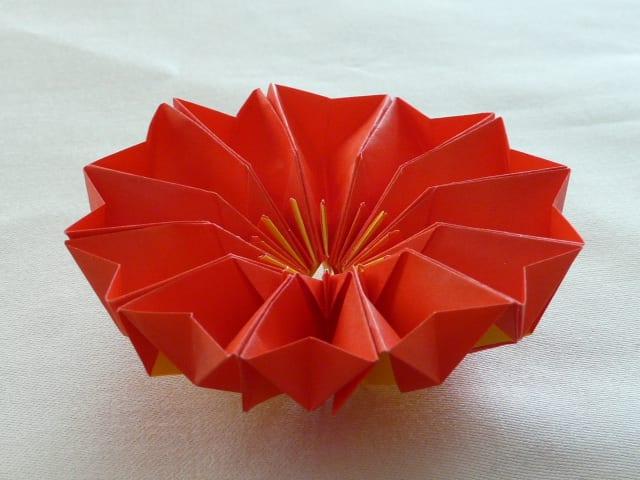 すべての折り紙 折り紙 クレマチス : ... 両面折り紙を使っています