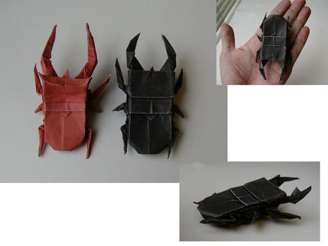 ハート 折り紙 折り紙クワガタの折り方 : divulgando.net
