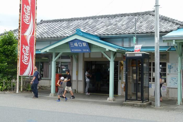 関東の駅百選認定駅だそうです。認定の看板がイイですね。金ピカで御... 秩父鉄道・三峰口駅・・・