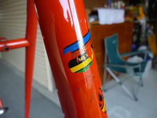 自転車の 自転車 洗い方 水 : ... MEXICO と読める水貼りのシール