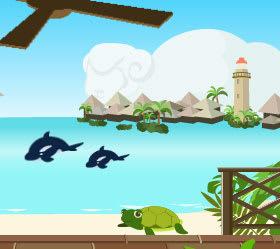 イルカとカメと「ひつじ雲」