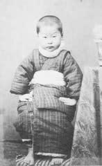 写真1:明治31年2月18日撮影。武雄5歳