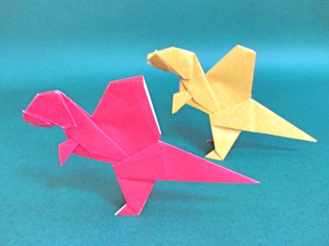 ハート 折り紙 : 簡単恐竜折り紙 : divulgando.net