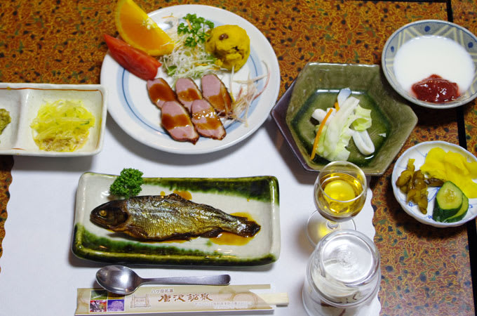 唐沢鉱泉の夕食