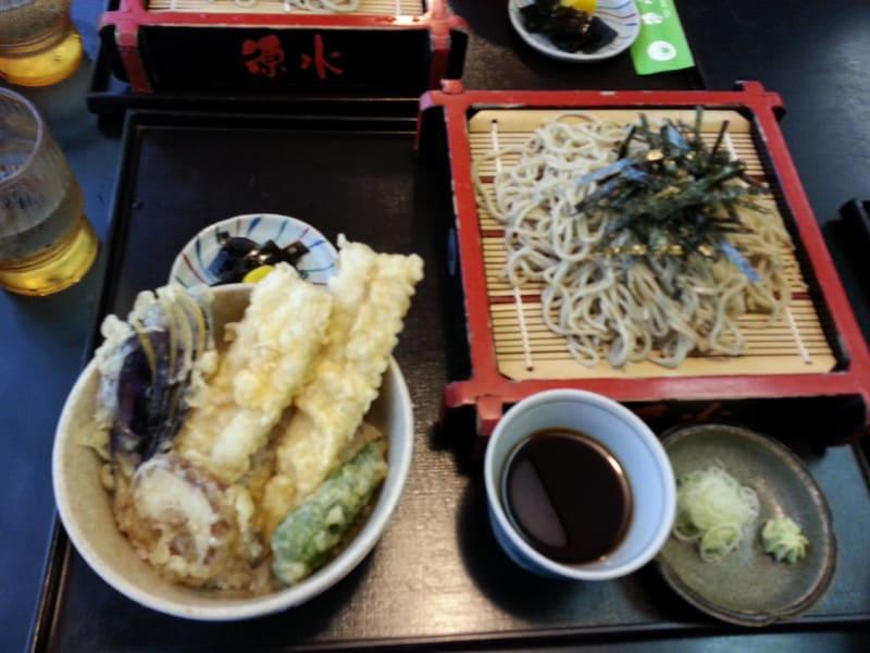 穴子天丼と蕎麦のセット