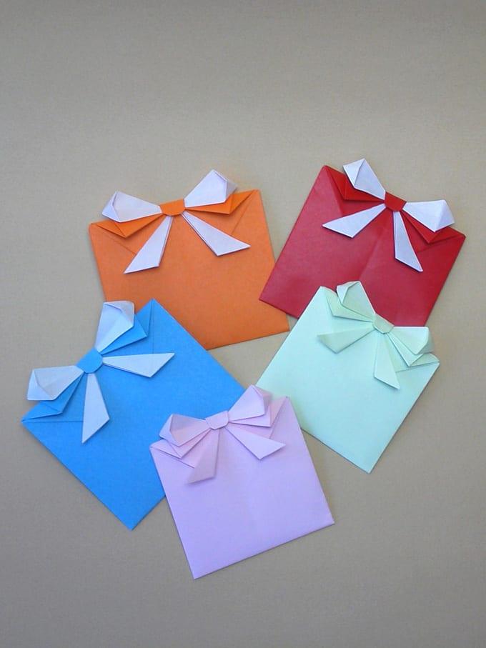 すべての折り紙 手紙の折り方 簡単 : ギフト型の手紙の折り方 ...