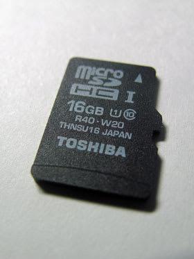 東芝micoSDHC UHS-Iカード Premiugate