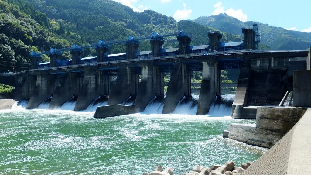 撤去工事開始直前の熊本県営荒瀬ダム