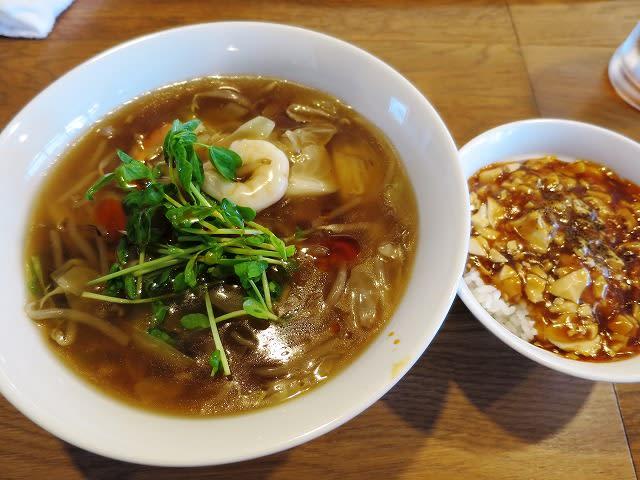 Aセット(特製とろみ麺)+小マーボ飯