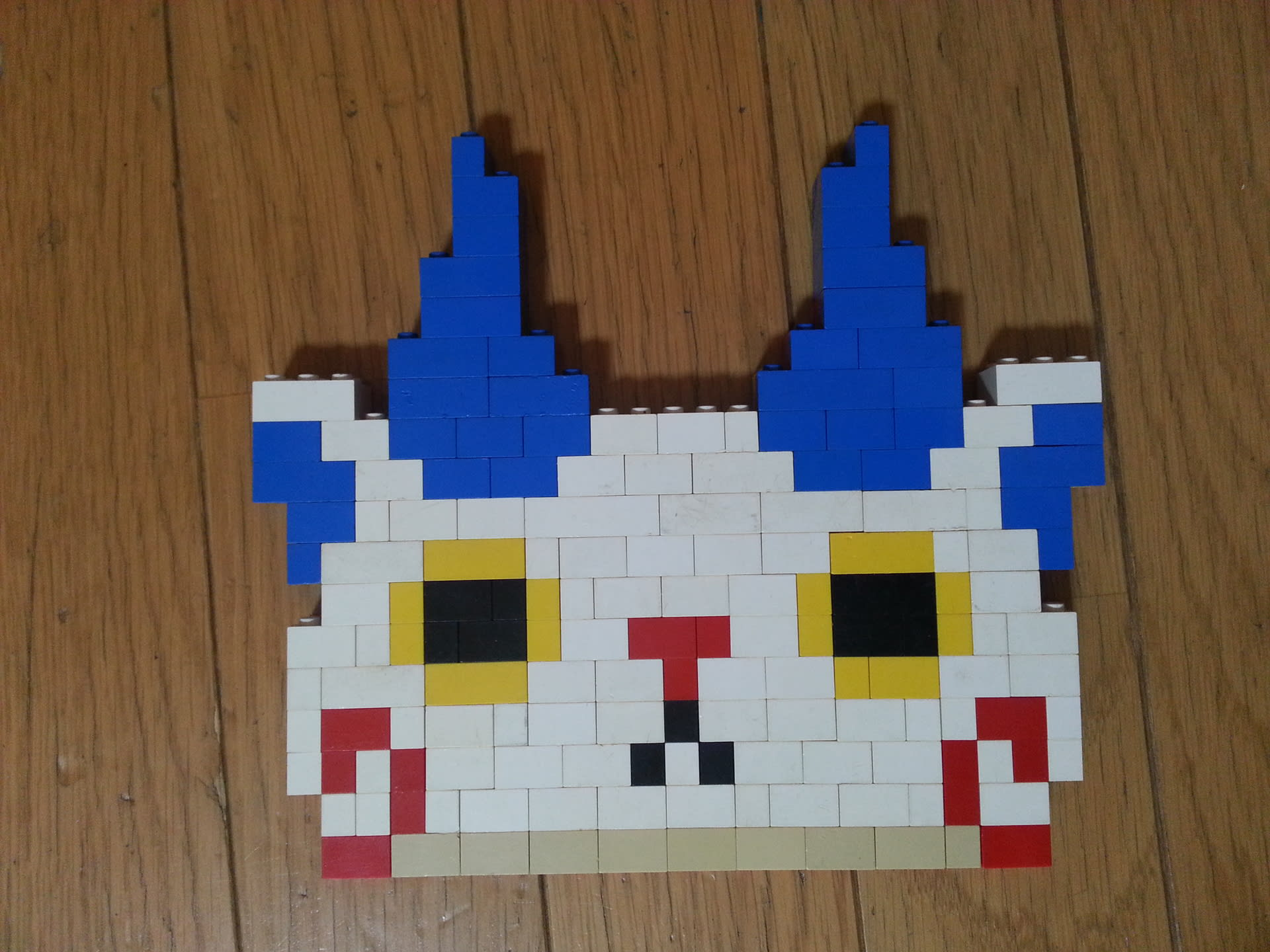すべての折り紙 こま 折り紙 作り方 : 顔だけですが、コマさんです。