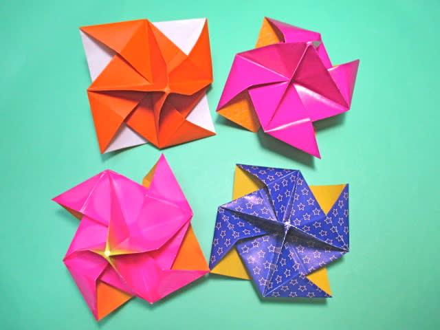 折り 折り紙 折り紙 風車 作り方 : blog.goo.ne.jp