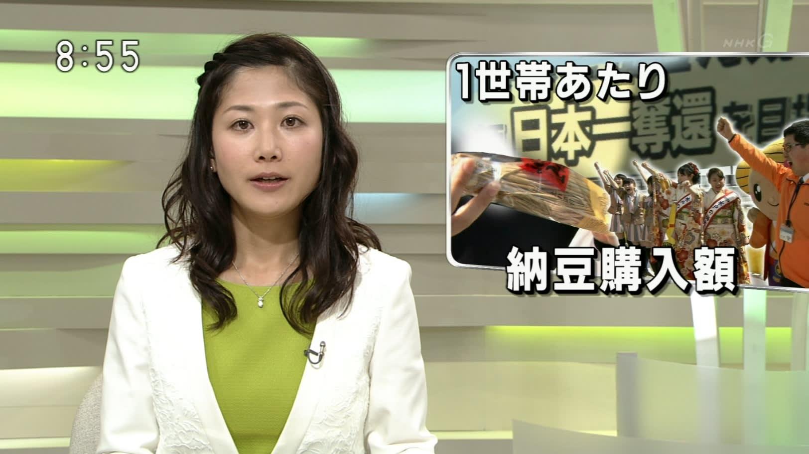 前髪三つ編みの桑子真帆アナ