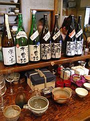 湯川酒造店の日本酒と酒器たち