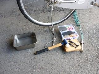 自転車の パンク修理の方法 ...
