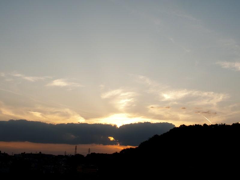 10月27日 根岸台の夕日