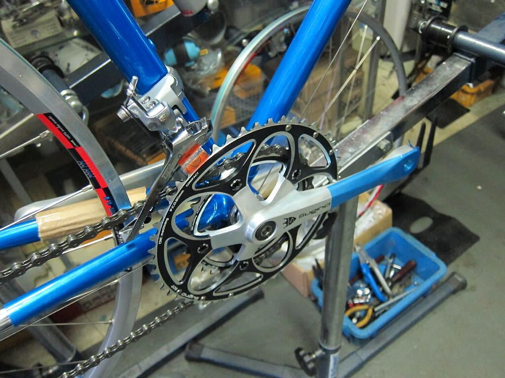 自転車の オーダー自転車 広島 : メッキラグが美しいですねぇ ...