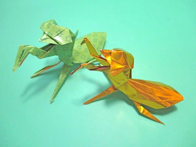 ハート 折り紙 折り紙 カマキリ 折り方 : blog.goo.ne.jp