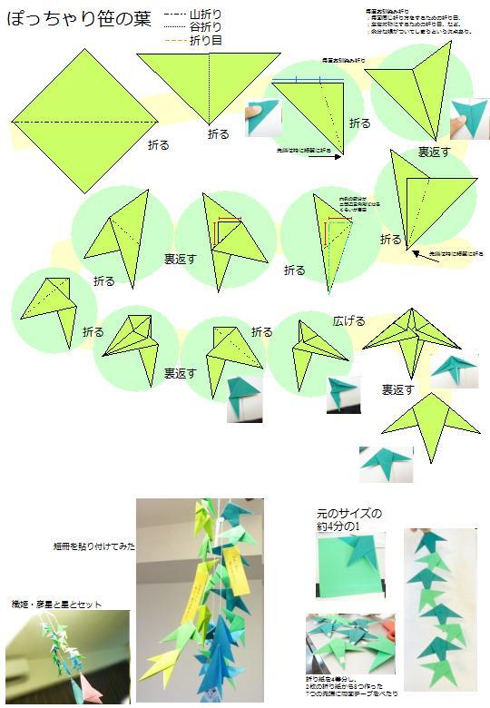 すべての折り紙 葉っぱ 折り紙 折り方 : 手作り遊び - ぬるまゆ育ち