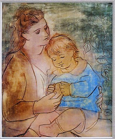 ピカソ:母と子