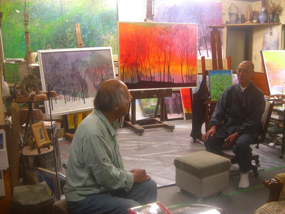 福井県大飯郡おおい町の画家、渡辺淳(すなお)さんのアトリエに案内しても... 森信雄の写真あれこ