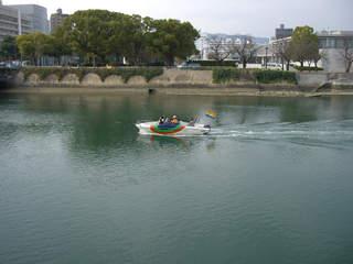 元安川を下る水上タクシー