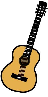 クラシックギターのイラスト。