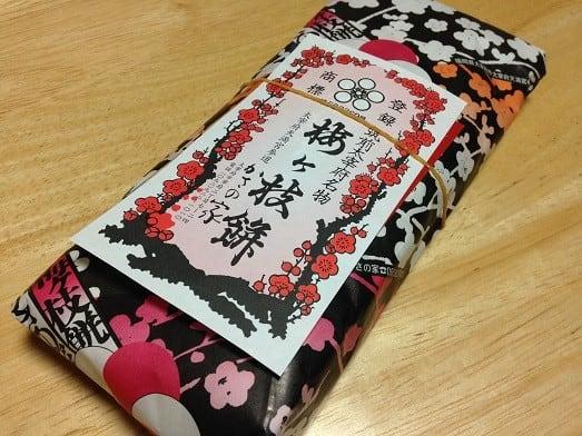 倉敷天満屋で、「かさの家」の「梅ケ枝餅」をゲット!