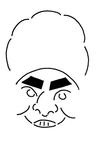 <br> 加藤諒の似顔絵
