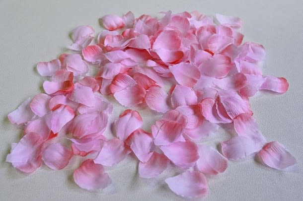 桜 造花 花びら 接写画像
