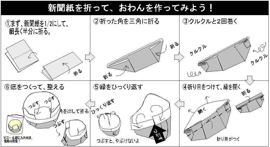 これから日差しが強くなる一方 ... : 折り紙で作るゴミ箱 : すべての折り紙