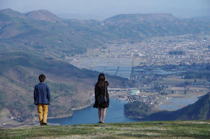 木崎湖フライトパークからの展望