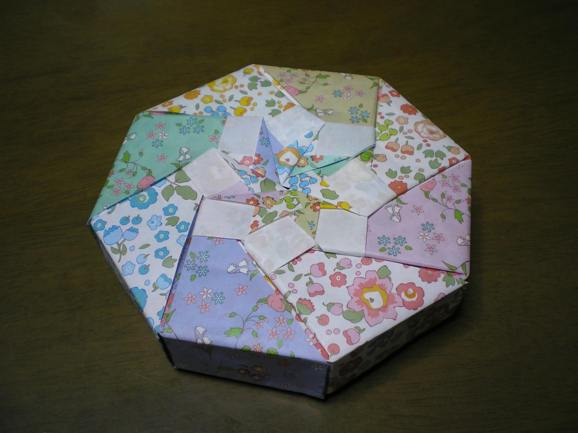 すべての折り紙 折り紙 八角形 箱 : 日記 - 紙工房あじさい
