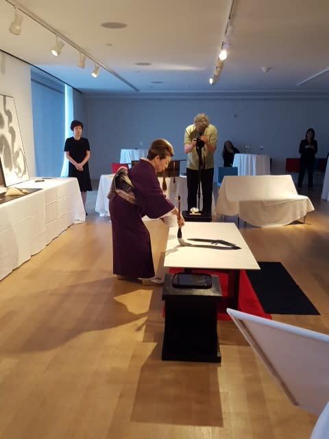 斉藤翠恵先生の書の個展に伺いました
