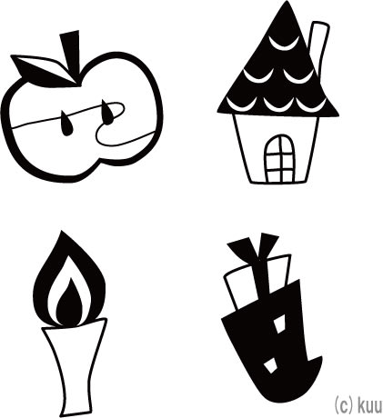 簡単切り絵図案~クリスマス ... : 折り紙 ます : 折り紙