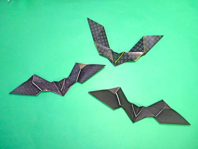 ハート 折り紙 折り紙コウモリの作り方 : blog.goo.ne.jp