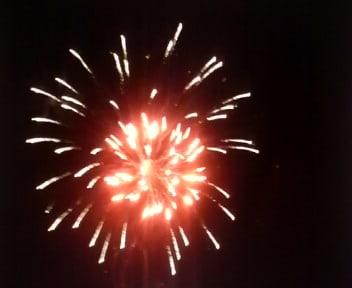 長倉神社の花火
