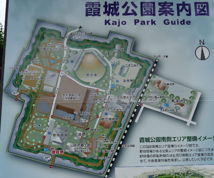 霞城公園の案内図