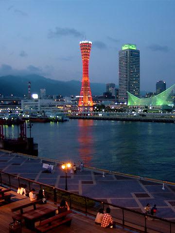 神戸港の夜景(モザイクガーデンから)