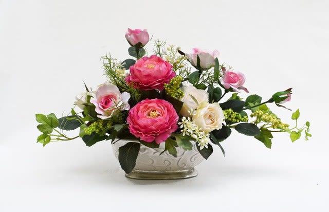 造花アレンジ 母の日  ピンク色
