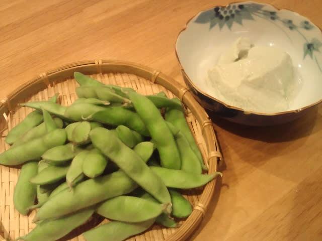【枝豆と枝豆豆腐】