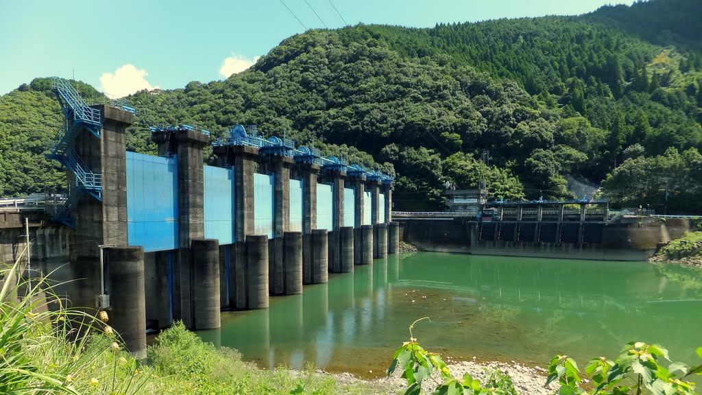 撤去工事開始直前の県営荒瀬ダム