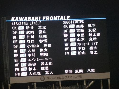 川崎フロンターレ スタメン