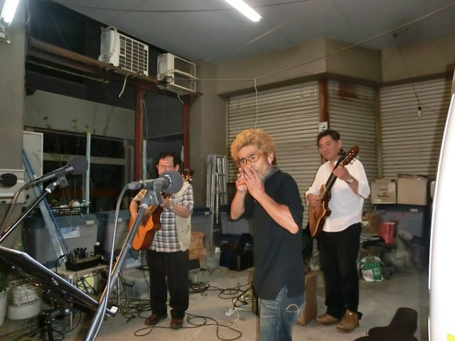 東二さん+ダブルギター
