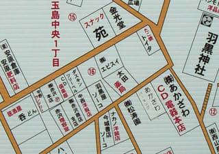 新町通り・銀座商店街周辺地図