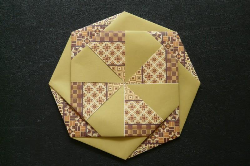 すべての折り紙 折り紙で作るコースター : 15cm角折り紙で作ると、径 ...