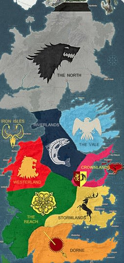 七王国の勢力図はこちら