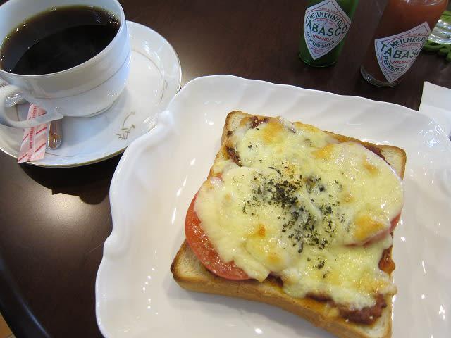 自家製ミートソースのトマトチーズトーストセット