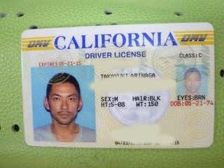 カリフォルニアドライバーズライセンス